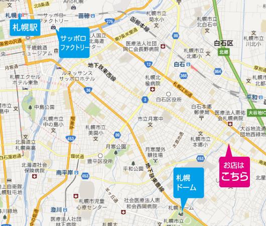 スズキ南郷通店の地図
